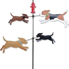 DOGS Double Carousel Spinner Garden Wind Spinner by Premier Kites & Designs