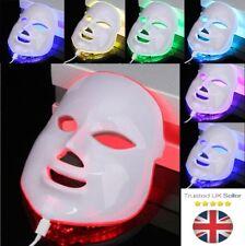 LED Photon Light Photodynamic Skin Rejuvenation Facial Neck Therapy Mask 7 Color