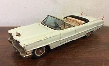 "Vintage Bandai 1961 Cadillac Tin Friction 4 Door Convertible Toy Car 8"""