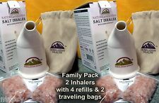2 Himalayan Salt Inhaler + 4 refills Asthma COPD Allergies Snoring Sinusitis NEW