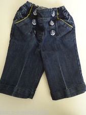 Cotton Blend Patternless Jeans (0-24 Months) for Girls