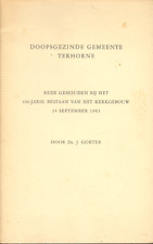 DOOPSGEZINDE GEMEENTE TERHORNE (FRIESLAND) - Da. J. Gorter (1965)