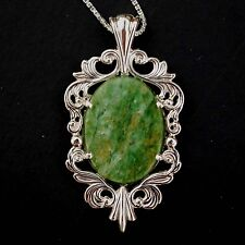 Gorgeous Wyoming Jade 925 Sterling Silver Necklace - Wyoming's Official Gemstone