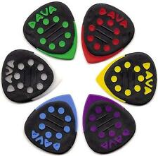 6 x Dava Grip Tip Guitar Pick / Plectrum With Delrin Tips (Pack Of Six)