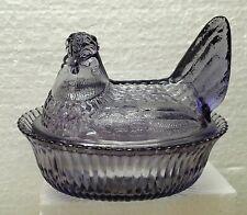 Boyd Glass 5 inch Hen on a Nest Purple Valor