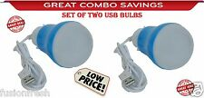 Combo Offer 2 USB Powered LED Bulb Portable Lamp Computer Laptop Outdoor Camping