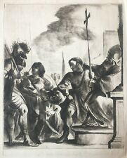 Gravure XVIIIe Vivant Denon Guerchin Guercino Incisione Etching Radierung 18th