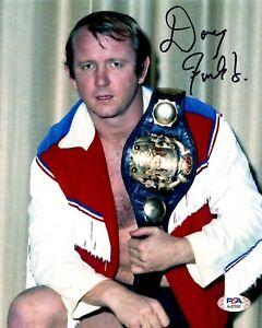 Dory Funk Jr. autographed signed 8x10 photo NWA Champion WWE HOF PSA COA