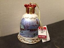 Porcelain Christmas Bell by East West Vintage Collectible