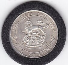 Very  Sharp   1913   King  George   V  Sterling  Silver  Shilling  British Coin