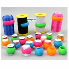Huggers Thread Spool Wrappers - Pack 12 Mixed colours Wrap Around Thread Storage