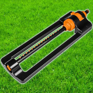 Oscillating Lawn Sprinkler Watering Garden Pipe Hose Water Flow with 16 Jets