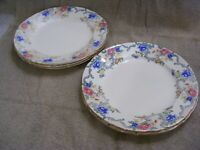 "ROYAL CAULDON - VICTORIA PATTERN - 10 1/2"" DINNER PLATES - SET OF 5"