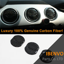 Luxury Carbon Fiber Front Vent Air Outlet Lid Combo 6PC For Ford Mustang 2015-17