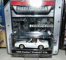 GREENLIGHT MUSCLE CAR GARAGE HOBBY WHITE 89 PONTAIC FIREBIRD TTA 1/64