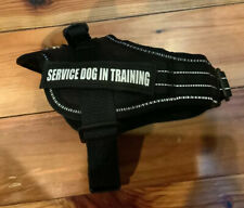 Dog Harness Service Reflective Vest with Handle Soft Patches SERVICE DOG