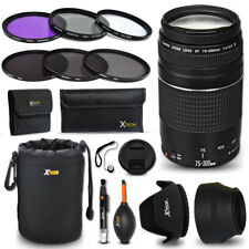 Canon EF 75-300mm f/4-5.6 III f/ Canon EOS Rebel T6 + Accessories KIT