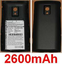 Black Case + Battery 2600mAh For SONY ERICSSON Xperia X10, Xperia X10a