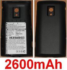 Schwarze Schale + Batterie 2600mAh für Sony Ericsson Xperia x10, Xperia X10a