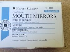 Dental  Mouth Mirror Cone Socket #4 front surface , Henry Schein 12/Box 1042350