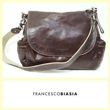 Francesco Biasia $490 brown leather cross body messenger bag