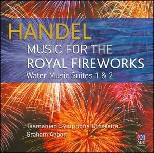 Handel: Music for the Royal Fireworks - CD New - Tasmanian Symphony Orchestra