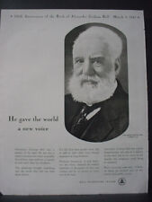1947 Bell Telephone System Alexander Graham Bell Vintage Print Ad 12700