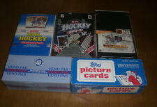 5 UNOPENED HOCKEY CARD BOXES & VENDING BOXES - OPC - TOPPS - SCORE - UPPER DECK