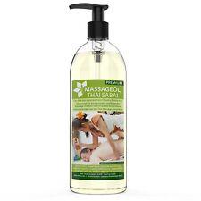 Massageöl Thai Massage Neutral 1000ml mit Jojoba & Mandelöl 1L - MyThaiMassage