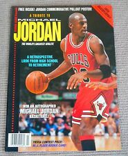 1993 Trading Cards Magazine Presents A Tribute To MICHAEL JORDAN  Free Poster