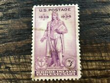 Scott #777- Rhode Island, Roger Williams Statue- Mnh 3c 1936- unused mint stamp