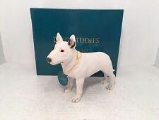 Dog Studies by Leonardo English Bull Terrier Figurine Ornament *BRAND NEW BOXED*