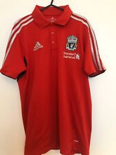 Liverpool Adidas Red Football Polo Shirt Size Adult Medium