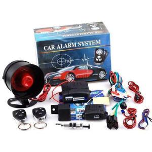 New Car Vehicle Security Burglar Alarm System Keyless Entry Siren With 2 Remote