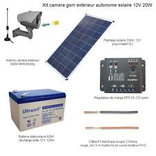 Camera extérieur  3G HD gsm MMS 3G Wifi Email Kit caméra solaire 3G 4G 20W