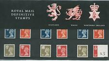 GB - PRESENTATION PACK - PACK NO 23 - MACHIN DEFINITIVES - REGIONALS -  to 37p