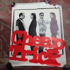 Cheap Trick 1982 Original Promo Poster 36x45