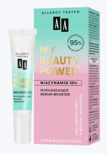 AA My Beauty Power 95% Natural Serum Booster Niacynamide Peptides Vegan