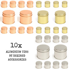 10x Round Metal Tin 250ml Welded Seam Soy Wax Candle Making Container NEW