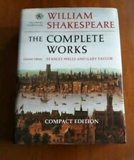 Shakespeare The Complete Works, Wells and Taylor, Compact Edition, Oxford