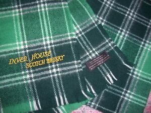 LOCHCARRON OF SCOTLAND PURE WOOL SCARF PLAID TARTAN INVER HOUSE SCOTCH WHISKY