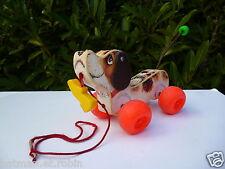 ☺ Jouet D'Activité Le Chien Little Snoopy A Tiré Fisher Price Réf: 693 Vintage