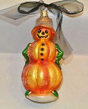 "8"" Radko Leader of Pumpkin Patch Large Glitter Halloween Ornament Blown Glass"