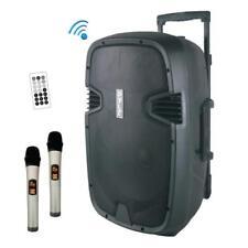Portable Bluetooth PA Speaker System 12'' Speaker, 1000 Watt, 2 Wireless mics