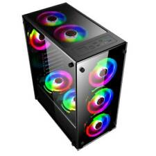 Gaming Computer RGB PC Case Cover Cooling Fans For ATX/micro-ATX/ITX US
