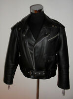 BERTO LUCCI Motorradjacke Lederjacke 90s bikerjacke oldschool brando jacket 52 M