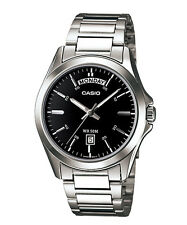 Casio New Original MTP-1370D-1A1 Analog Mens Watch Stainless Steel WR50M MTP1370