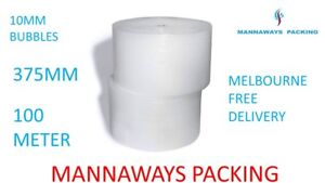 Bubble Cushioning Wrap ,Bubble wrap Clear 375mm x 100M  Melbourne free Delivery
