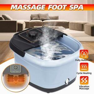 220v Electric Foot Spa Bath Massager Bub Rolling Vibration Heat Relax Foot Soak