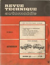 REVUE TECHNIQUE AUTOMOBILE 295 RTA 1970 AUTOBIANCHI A111 PRIMULA EVO MINI 1275